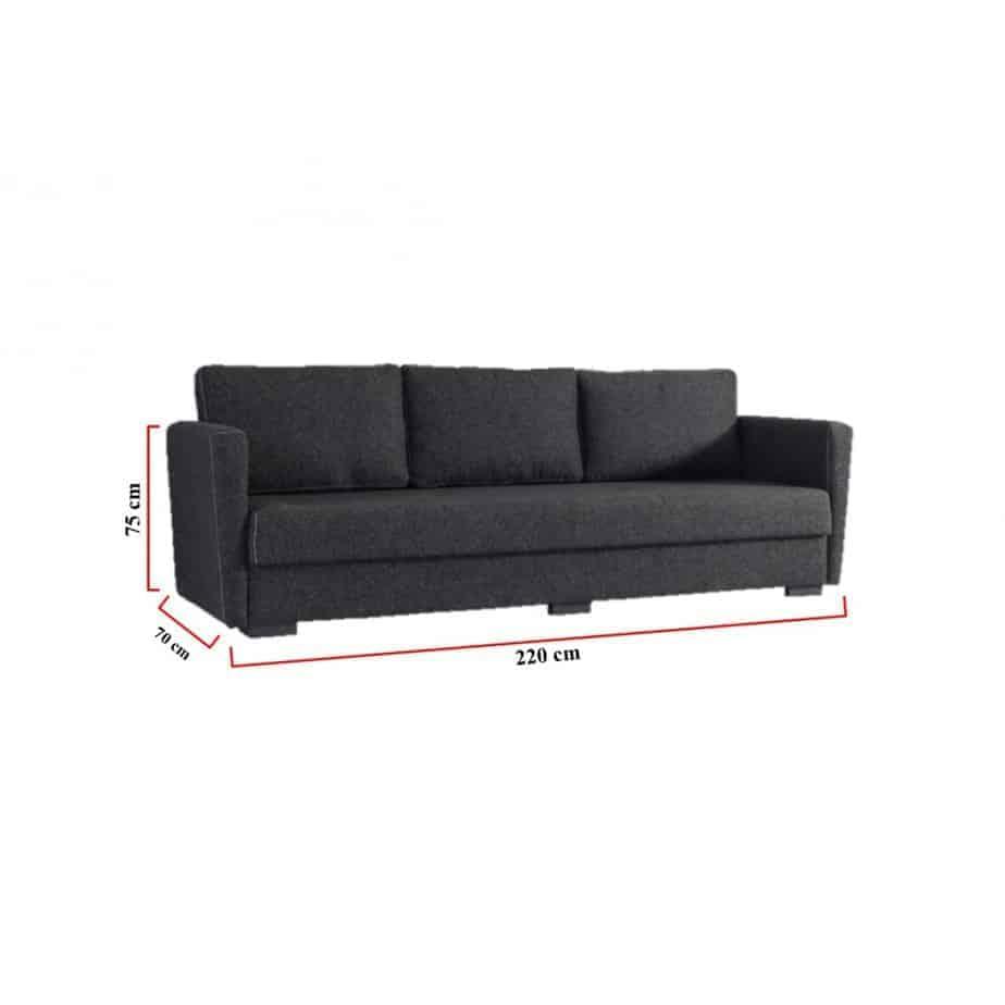 Canapé classique 3 places dimensions